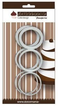 Set 6 anelli per mattarello grande 2 - 4 - 6 mm.