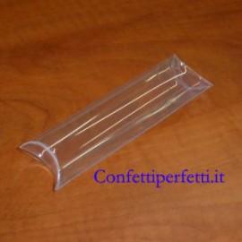 Set di 12 Tubi in PVC trasparenti 50x50x20 mm.