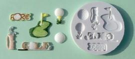 Stampo in silicone attrezzi per il Golf.