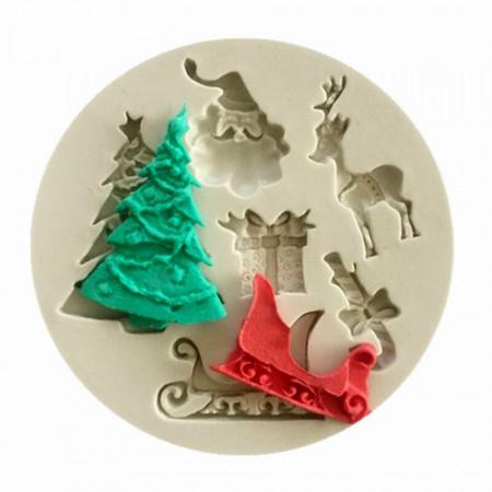 Stampo Natale con Albero e Babbo Natale