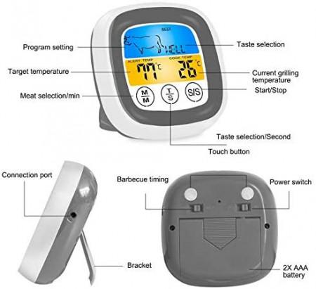 Termometro Bluetooth Con Sonda E Controllo Digitale Prodotti alternativi a simplytemp24 termometro bluetooth. confetti perfetti