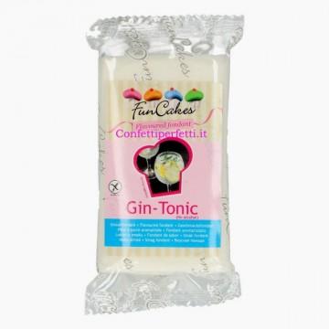 Aromatizzata al Gin Tonic. Senza Alcool. Bianca. Pasta di zucchero senza Glutine. FunCakes