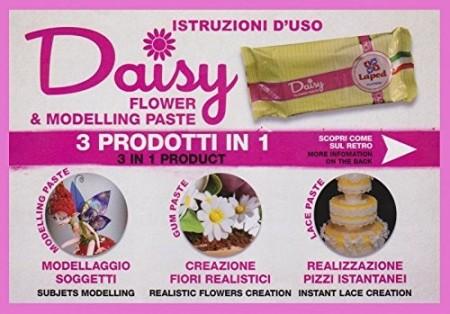 Bianca. Per Fiori, Pizzi e Model. DAISY 3 prodotti in un'unica Gum Paste. Kosher.