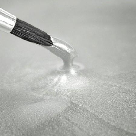 Bianco Metallizzato. Rainbow Dust. Vernice Perlescente. Food Paints.25 ml.