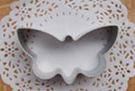 Casa, Farfalla, Ottagono,Quadrato,Fiore,Cuore e Stella. Set di 7 stampi in metallo.
