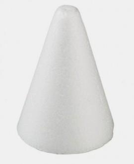 Cono in polistirolo diametro 7 x 15 cm di altezza.
