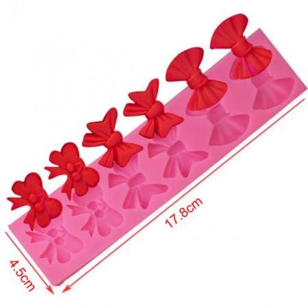 fiocchi di varie misure e forme in silicone
