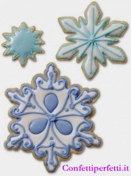 Fiocco di Neve. Set di 7 Tagliapasta in metallo.Wilton