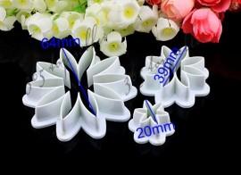 Margherita. 3 Stampi in plastica per decorazioni dolci