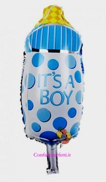 Palloncino gigante in Mylar a forma di Biberon per Bambino !!
