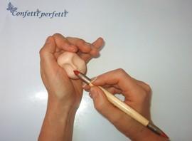 pennello a 2 punte in silicone per decorare le tue creazioni in pasta di zucchero