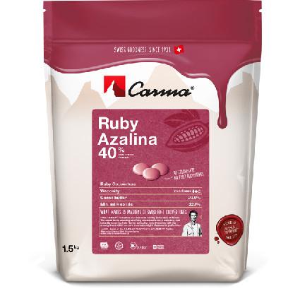 Ruby Azalina 40%. Gocce di cioccolato.
