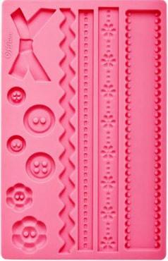 Sartoria e Bottoni più 2 bordure. Stampo in silicone