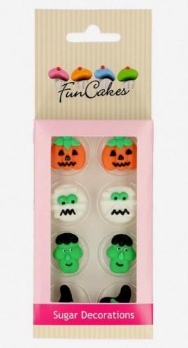 Set di 8 decorazioni in zucchero a tema Halloween. FunCakes immagini