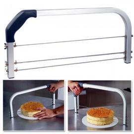 Taglia torta e fette in acciaio Professionale a 3 lame regolabili di ottima qualità