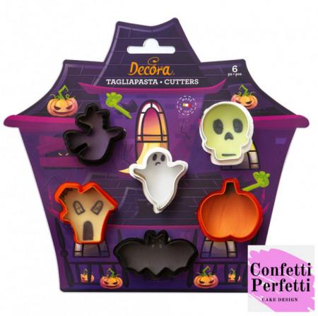 Teschio Strega Fantasma Zucca Casetta Pipistrello stampi Halloween