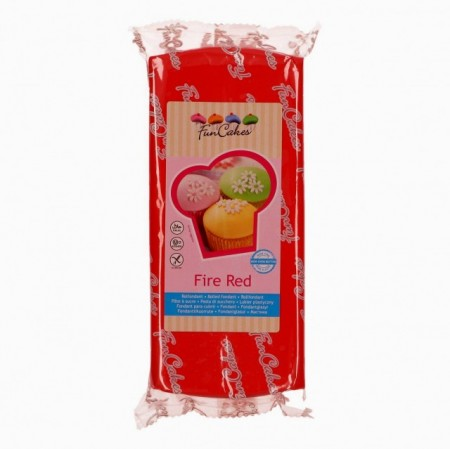 Rosso Fuoco. Pasta di zucchero FunCakes. Fire Red