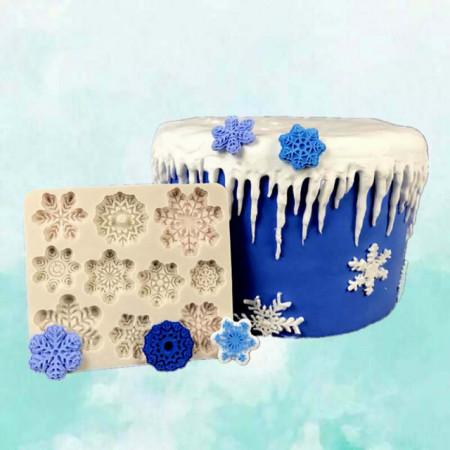 Stampo in silicone Fiocchi di neve per il cake design