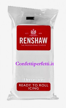 Bianca Extra. Renshaw. Pasta di zucchero alla Vaniglia da 250 Gr. Certificata Kosher. immagini