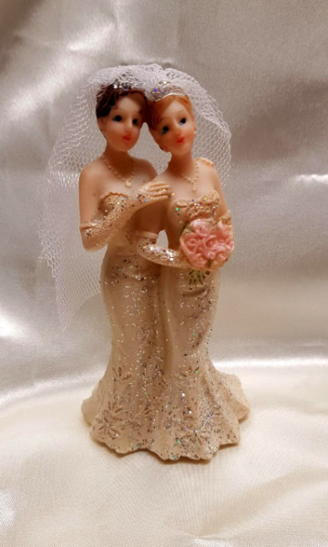 coppia donne cake topper matrimonio