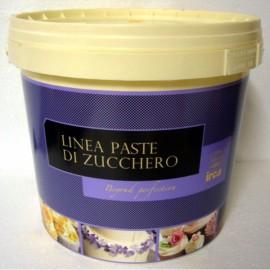DAMA TOP SPECIAL . 5 Kg. Pasta di zucchero BIANCA x Copertura e Modelling. Irca.Senza Glutine