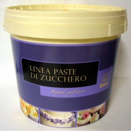 DAMA TOP SPECIAL Irca. Pasta di zucchero BIANCA x Copertura e Modelling da 5 Kg.Senza Glutine. immagini