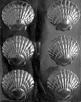 Stampo in policarbonato per conchiglie di Cioccolata