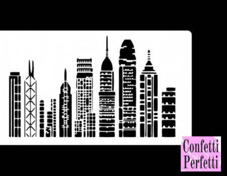 Grattacieli di New York stencil