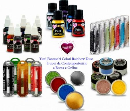 Grigio Ombra. Colorante in polvere concentrato. Rainbow Dust per il cake design