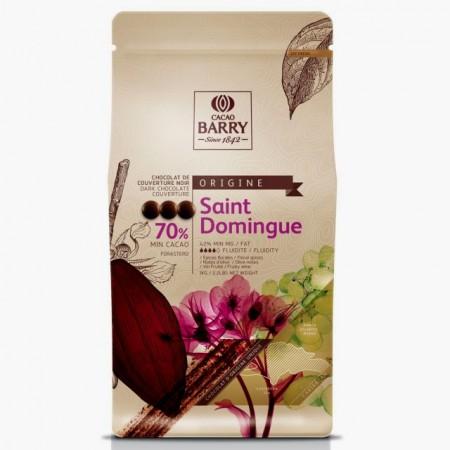 Santo Domingo. Cacao Barry Chocolate Callets. Saint Domingue Dark 70%