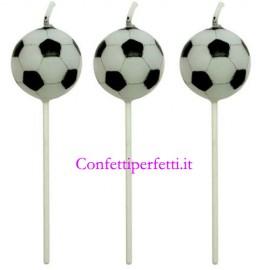 Set di 4 Candeline a forma di pallone da calcio. PME