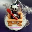 Morte Halloween con Carretto. In Pasta di zucchero, fatto a mano!! Modecor.