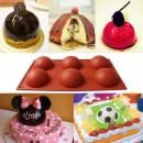 6 Semisfere. Stampo in silicone per Muffin, Brownie, Cupcake e Dolci. Mezza Sfera