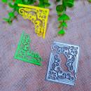 Cornice decorata rettangolare. Fustelle sottili metalliche per Scrapbooking