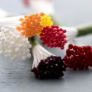 50 Pistilli 2 mm Giallo Limone per fiori in pasta di zucchero
