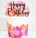 Buon Compleanno in Oro. Happy Birthday. Cake Topper