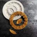 Diadema Cornice Bordo mazzo Rose e Foglie. Barocco Vintage. Stampo in silicone
