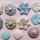 Diamanti Gemme e Spille d'epoca !! Stampo in silicone Vintage Brooch. Originale Karen Davies.