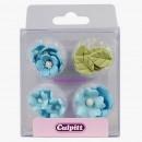 Fiori Celesti. Set di 16 decorazioni di zucchero