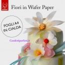 Fiori. Set di 4 Fogli sottili di Wafer Paper o Ostia o Cialda formato A/4. Modecor