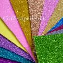 Fogli di Gomma Eva Crepla o Foam Glitterati in molti spettacolari colori.