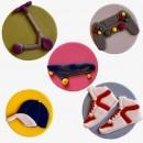 Joystick Skateboard Monopattino Cappellino Baseball e Scarpe ginnastica. Stampo Tagliapasta Ragazzo Cool. FMM