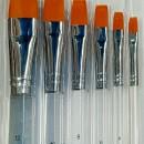 Set di 6 Pennelli per dipingere e decorare. Pennello in Setole Nylon
