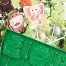 Stampo silicone lecca lecca Animali Lollipop Pavoni.