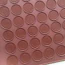 Tappetino Macaron di 280 x 250 mm con 30 cavità in silicone