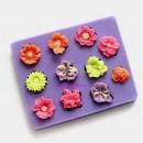11 Fiori piccoli. Stampo in silicone