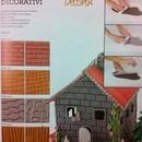 Pietra, Legno, Muro, Pelle. Kit di 4 Fogli Decorativi Decora.