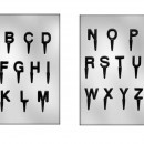 Lettere Alfabeto. Set di 2 Stampi con supporto in policarbonato flessibile.