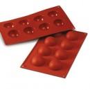 8 Semisfere. Stampo in silicone per Muffin, Brownie, Cupcake e Dolci. Mezza Sfera