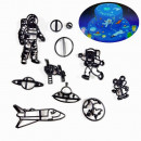Spazio e Astronauta. Set di 11 stampi tagliapasta